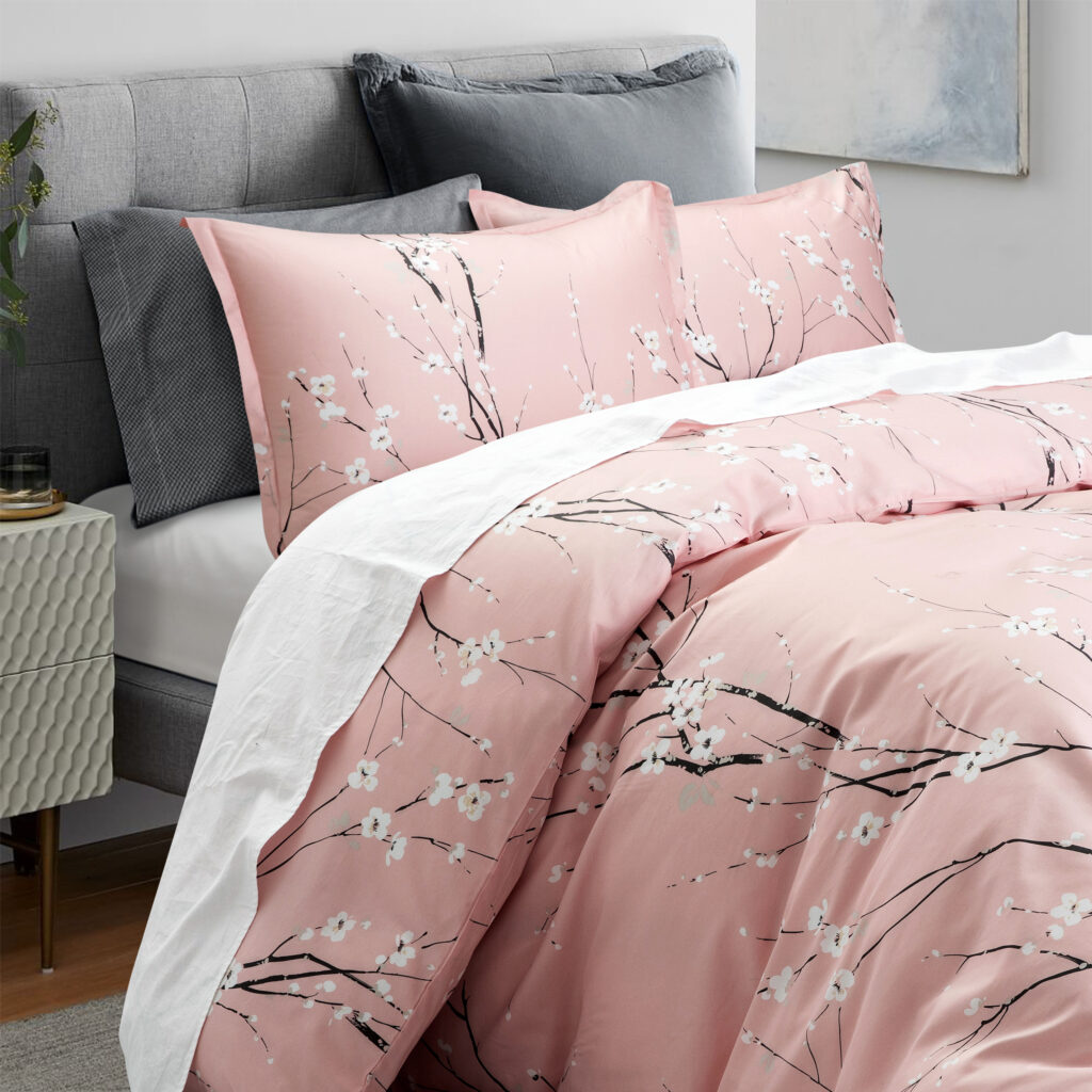 Pink Cherry Blossom bedding